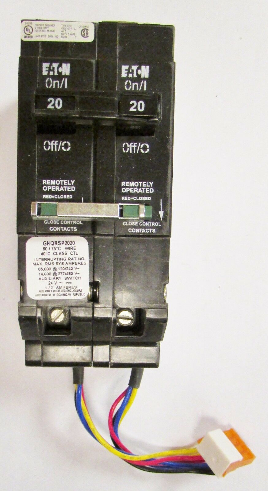 Eaton Cutler Hammer Ghq Remote Control Circuit Breaker 2 Pole 20 Amp Switch 7 Remotecontrolcircuit Norton Secured Powered By Verisign