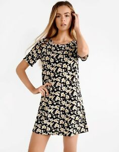 c9bbd5bf4bee Image is loading NEW-GLAMOROUS-PETITE-FLORAL-PRINT-JERSEY-SHIFT-SWING-
