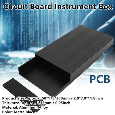 Circuit Board PCB Cooling Box Instrument Electronic Project Enclosure Case Printed Circuit Board Wiring Aluminum Box DIY Project Box Electronic Project Box aluminium Cooling Box