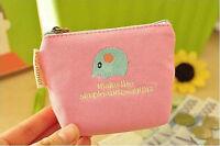 Retro Women's Coin Key Holder Case Small Canvas Purse Mini Bag Ladys Zip Wallet