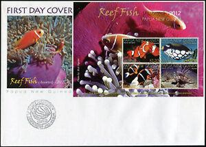 Papua-Neuguinea-2012-Fische-am-Korallenriff-Mint-Ersttagsbrief