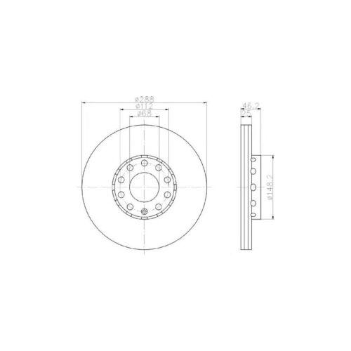NUOVO AUDI A4 B6 1.9 TDI quattro Saloon Autentico disco freno Anteriore Mintex Set Pastiglie /&