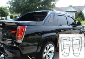 2001-2006-Chevy-Avalanche-Chrome-Tail-Lights-Bezel-Rear-Bumper-Cover-Accent-2Pc