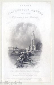 Sankt-Petersburg-Russland-Stahlstich-1836