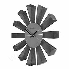 Designer Silver Mesh Metal Wall Clock - Modern Contemporary Stylish Clock