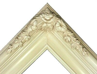 """3.25/"""" White Wash Ornate Classic Picture Frame Wedding B6WW gallery frames4art"""