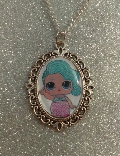 Encanto de plata Collar Colgante lol l.o.l sorpresa Muñeca Splash Queen