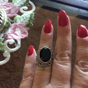 Size-7-11-57ct-Bali-Legacy-Collection-Thai-Black-Spinel-Sterling-Silver-Ring