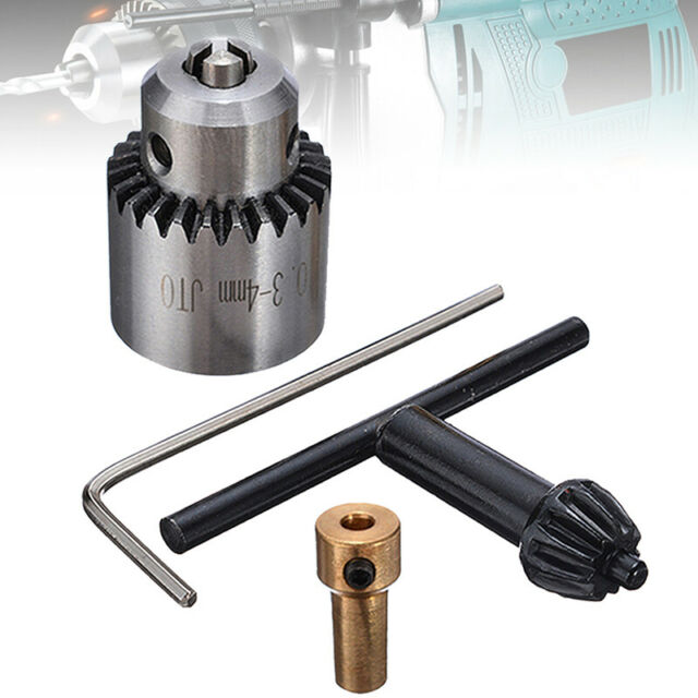 0.3-4mm Micro Motor Drill Chuck Clamp With Key and 1//8 Inch Shaft Connecting Rod