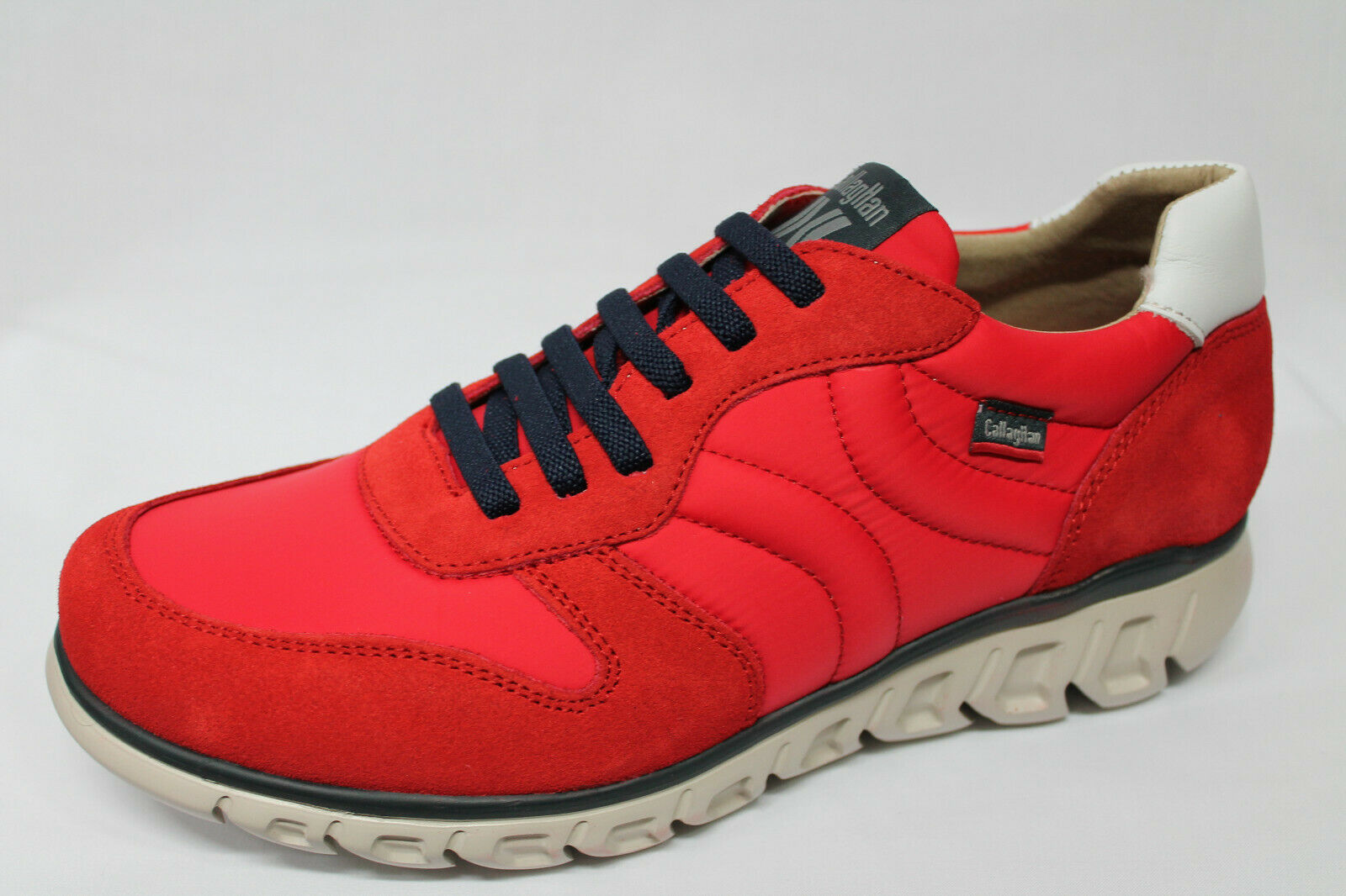 shoes Sneakers Callaghan 12903 camoscio e tessuto red