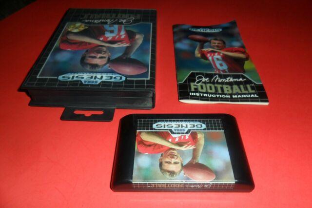 Joe Montana Football (Sega Genesis, 1991) Complete very nice
