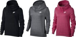 2d85a6caa98 Nike Women s Sportswear Funnel-Neck Hoodie Sweat Training Gym Ladies ...