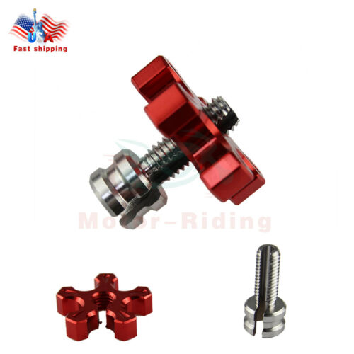 Motorcycle Dirt Bike CNC Clutch Brake Cable Adjuster Screw M8 Thread Bolt US Red