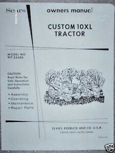 917 25590 sears custom 10xl tractor manual lists on cd ebay