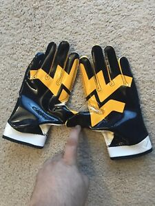 Details About Never Used Team Issued West Virginia Nike Wr Gloves Large Wvu