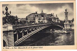 75-cpa-PARIS-Le-pont-Alexandre-III-et-le-Grand-Palais