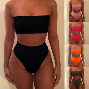 damen ungepolstert bademode bikini set hohe taille. Black Bedroom Furniture Sets. Home Design Ideas