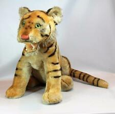 "Rare Steiff Mohair Stuffed Bengal Tiger 17"" Tall Made 1959-1961 w/ Button in Ear"