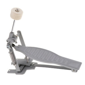 New-Single-Bass-Drum-Pedal-Single-Chain-Drive-Percussion-Parts-Silver