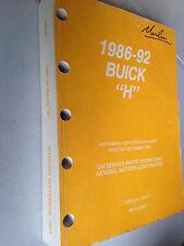 1986 87 88 89 90 91 92 Buick Lesabre Parts/Illustrations Book 44HC.