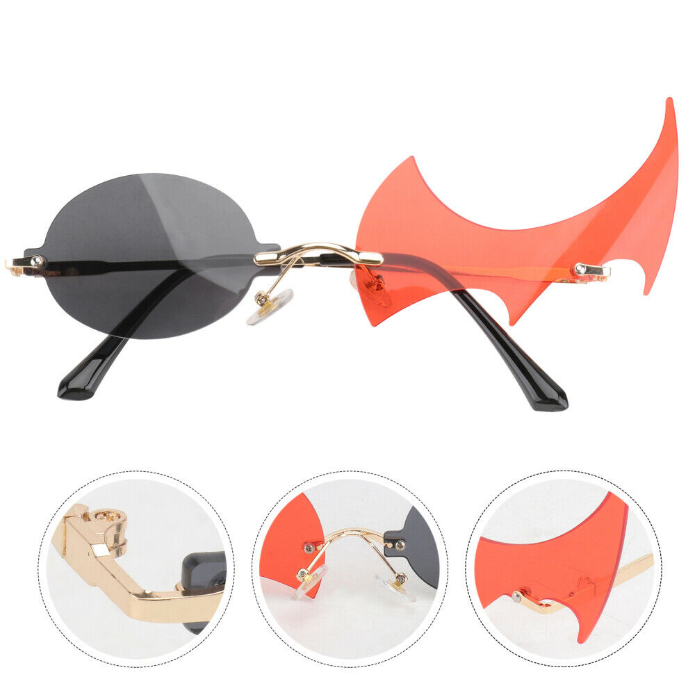 1 Pair Fashion Flame Sunglasses Fire Flame Glasses for Daily Summer