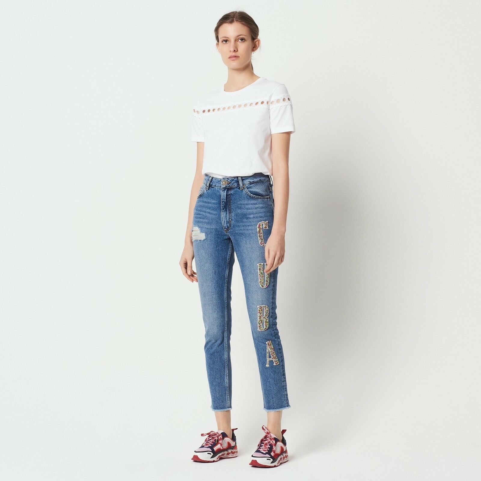 Sandro Embellished  Cuba  Jeans New with tags size 36 S