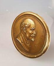 Original UDSSR Medaille Russland Lenin Plakette Tischmedaille