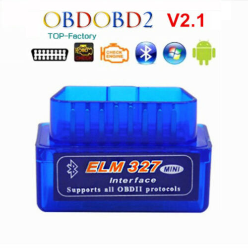 Mini ELM327 V2.1 Bluetooth OBD2 Car Dynamic Diagnostic Interface Scanner Tool