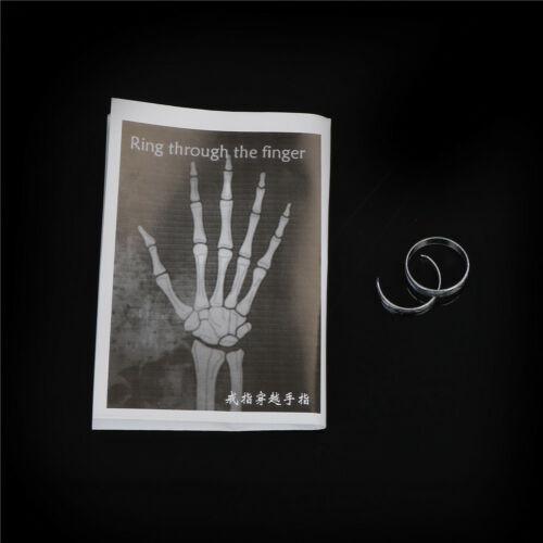 Close-Up Street Magic Gimmick Moving Ring Through Finger Magician Trick newYH