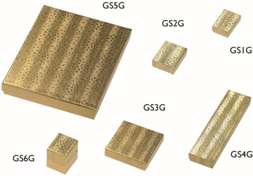 GOLD or SILVER CARDBOARD JEWELLERY GIFT BOXES with FOIL FINISH ALL SIZES!!