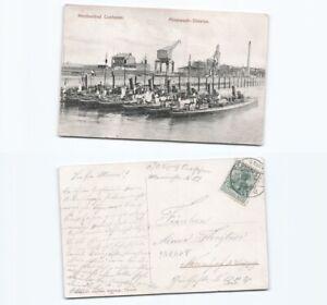 n14746-Ansichtskarte-Cuxhaven-Minensuchdivision-1908-nach-Neunhof