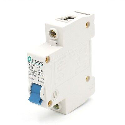 Circuit Breaker DZ47-63 C25 25 Amp 230//400VAC 6000A Breaking Capacity 2 Poles