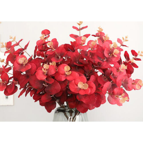 Artificial Fake Flowers Leaves Bunch Bouquet Greenery Leaf Home Decor