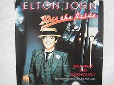 "Elton John 7"" vinyl singles - Kiss the bride, Ego, Song for Guy, Nobody wins vgc"