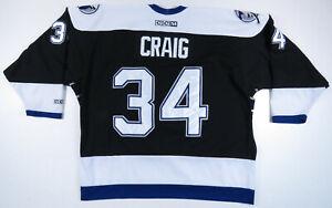 Ryan-Craig-Tampa-Bay-Lightning-CCM-Air-Knit-Maska-NHL-Hockey-Sewn-34-Jersey