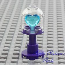 NEW Lego Princess Dark Violet PURPLE DISPLAY CASE w/Friends Blue Heart Jewel Gem