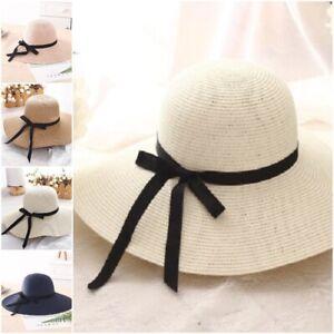 5fc5447845a04b Big Wide Brim Women Beach Sun Hat Foldable UV Protection Summer ...