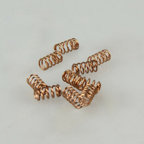 2pcs 1mm WD 10mm OD conductive phosphor copper wire spring compressed springs