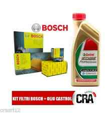Servicesatz Öl CASTROL LANGES LEBEN III 5LT+4 FILTER BOSCH AUDI A4 2.0 TDI 8K B8