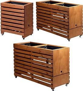 hochbeete auf rollen pflanzkasten blumenbeet garten tischbeet versch gr en ebay. Black Bedroom Furniture Sets. Home Design Ideas