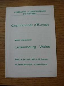 01051975 Luxembourg v Wales At Stade Municipal   Any faults with this item - <span itemprop=availableAtOrFrom>Birmingham, United Kingdom</span> - Returns accepted within 30 days after the item is delivered, if goods not as described. Buyer assumes responibilty for return proof of postage and costs. Most purchases from business s - Birmingham, United Kingdom