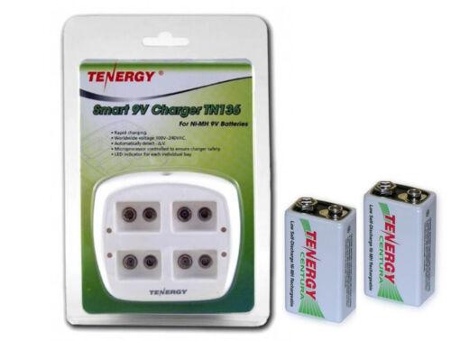 Smart 9V TN136 Charger for NIMH 9V Batteries With 2 batteries