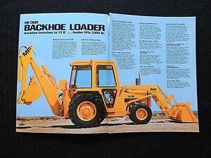 "1976 MASSEY-FERGUSON ""MF 30B TRACTOR LOADER BACKHOE"" CATALOG BROCHURE GOOD SHAPE"