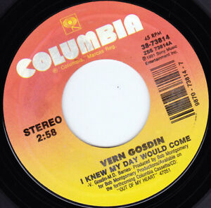 "VERN GOSDIN - I Knew My Day Would Come  7"" 45"