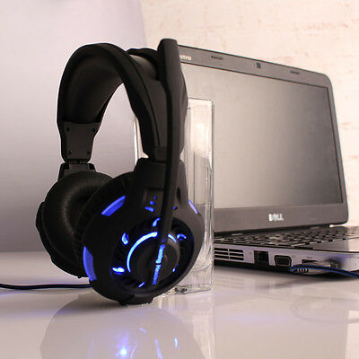 New Surround Stereo Gaming Headset Headband Headphone USB LED with Mic For PC