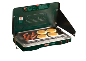 Camp Stove Top  Griddle Small Propane Cooking Accessories Double Burner Grill RV  free shipping & exchanges.