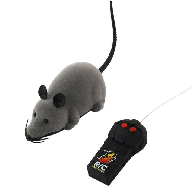 Remote Control Wireless Electronic RC Rat Mouse Mice for Pet Cat Puppy Funny Toy