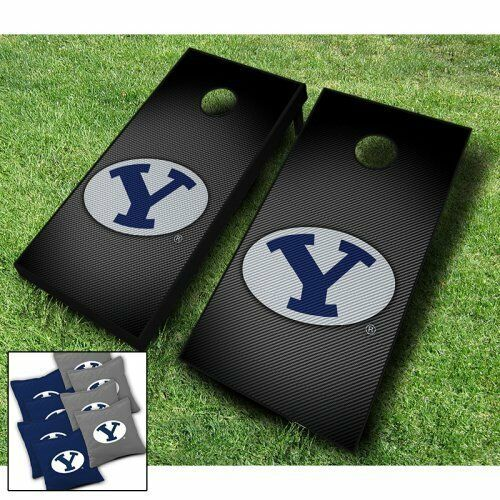 BYU COUGARS  Slanted  CORNHOLE WRAPS BOARD SET + 8 ACA Regulation Bags