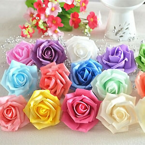 50 large colourful diy foam roses artificial flower wedding bride