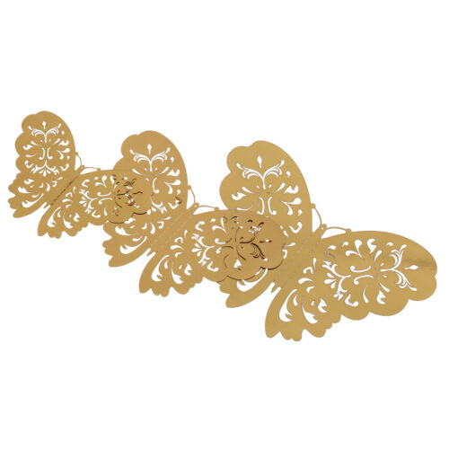 12pcs Mixed Sizes 3D Butterfly Wall Stickers Home Room Wall Decal Art Wall Decor